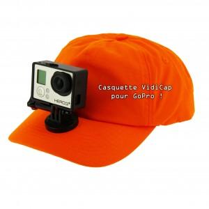 casquette vidicap orange gopro 2