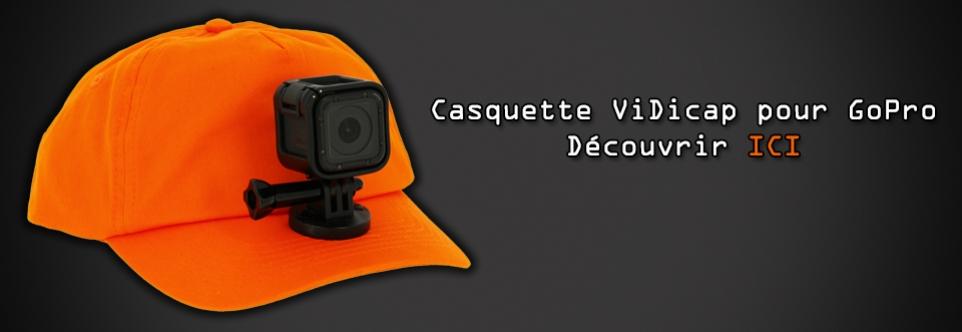 Casquette de chasse pour caméra GoPro