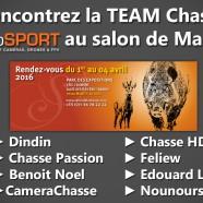 La Team Chasse studioSPORT présente au Salon de Mantes du 1er au 4 Avril 2016 !!